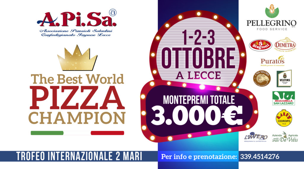 Pizza.it the best world pizza champion-Lecce 2018