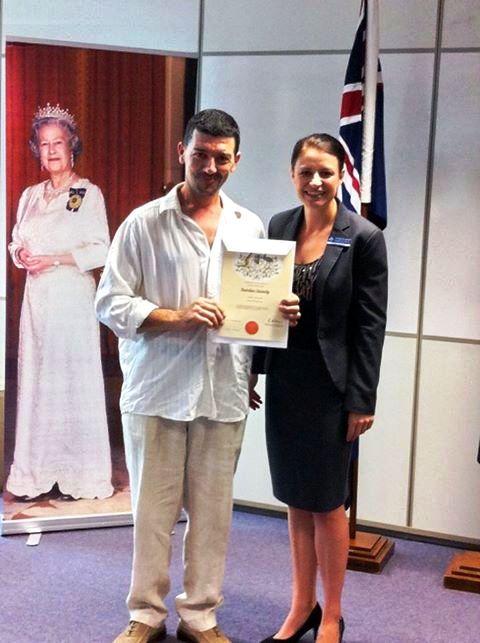 Pizza.it School - Sandro Mezzi Falzolghe,r pizzaiolo italiano, ottiene la cittadinanza australiana